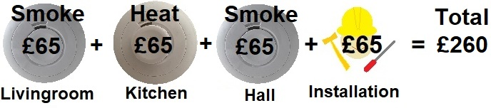 Dalkeith Electrics logo, Aico alarms and pament options